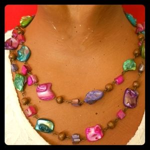 NWT SONOMA Colored Shell 🐚 Necklace 🏖 SUMMER FUN